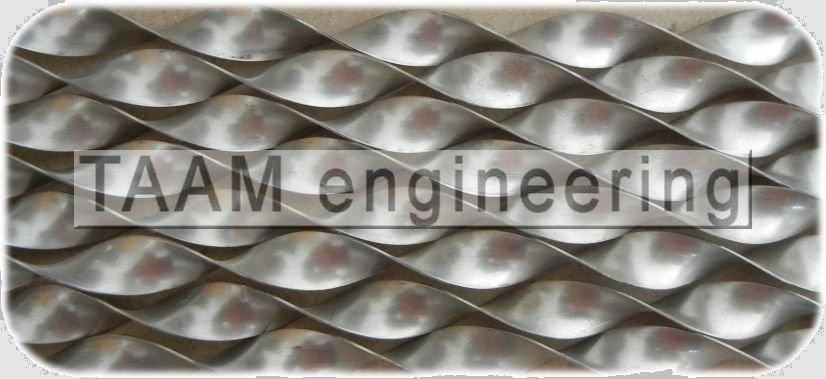 Twisted Tape Tube Inserts Stainless Steel Turbulators