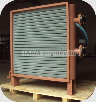 air cooled vapor condenser with fan assembly